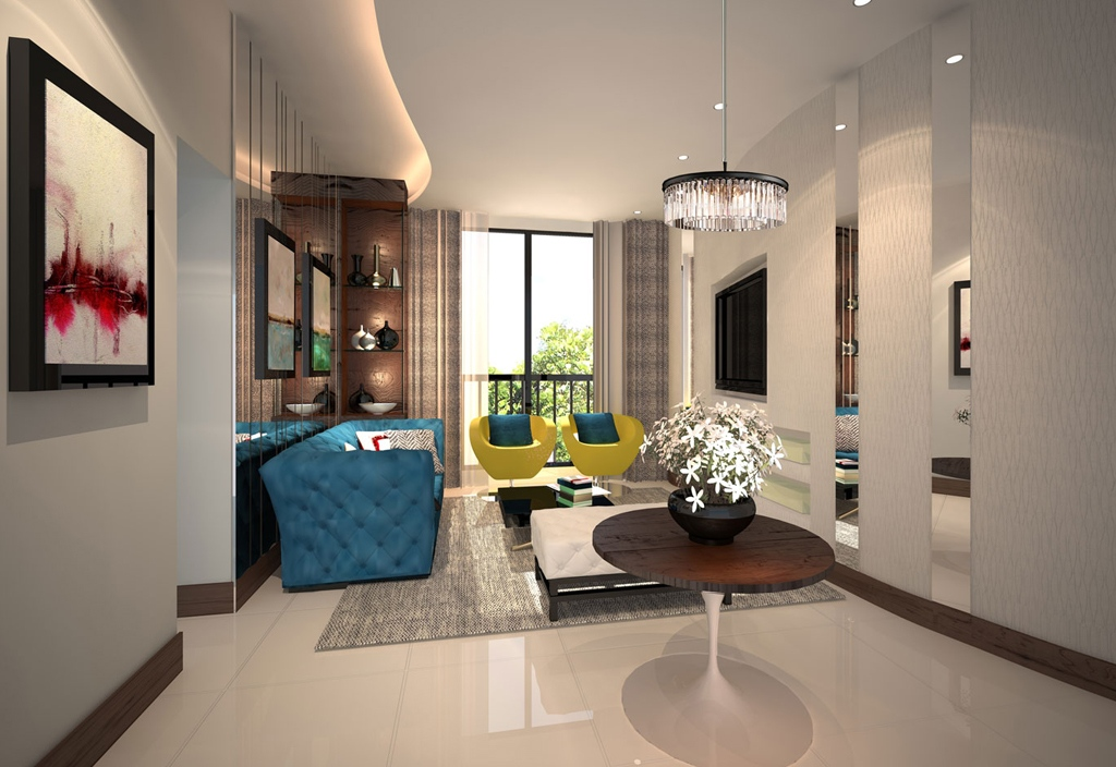 Dawson Road (HDB BTO Apartment) Design Areas: Living Room, Kitchen, Master  Bedroom With En Suite, Kids Room, Common .