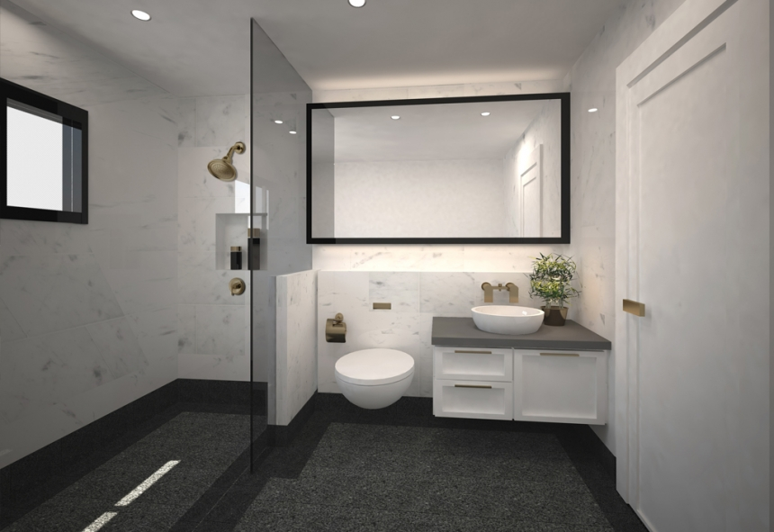 Artist Impression For Hdb At Fajar Road Master Bathroom